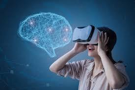 Gamer wears VR googles